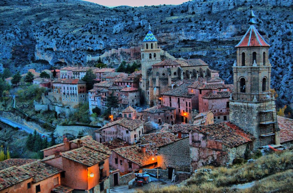 Albarracín-Aragon-ispanya