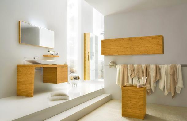 Bambulu tuvalet-banyo dekorasyonu