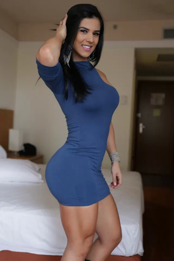 Hot-Fit-Girls-Eva-Tight-Blue-Dress