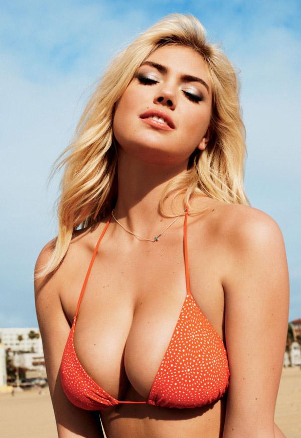 Kate-Upton-Orange-Top