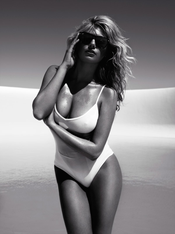 Kate-Upton-White-One-Piece