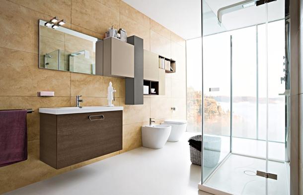 Manzaralı tuvalet-banyo dekorasyonu
