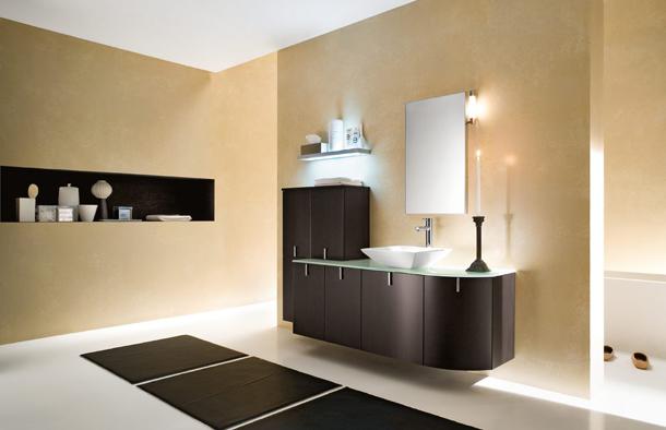 Modern banyo-tuvalet dekorasyonu