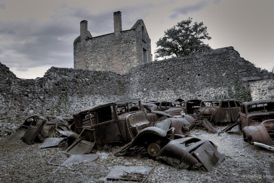 Oradour-sur-Glane Fransa terk edilmiş şehir fotoğrafları 3