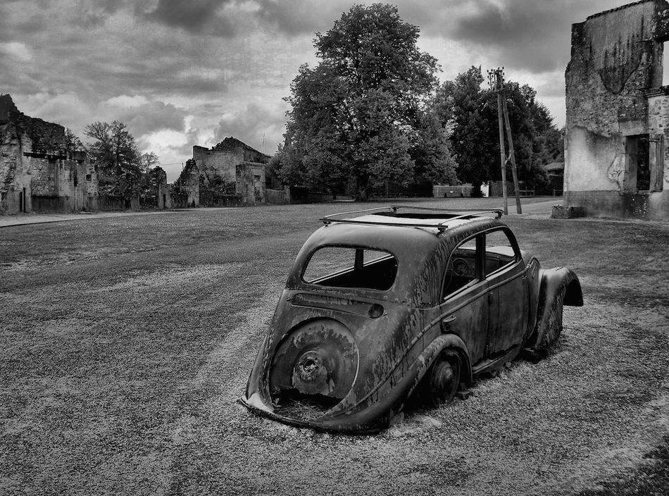 Oradour-sur-Glane Fransa terk edilmiş şehir fotoğrafları 6
