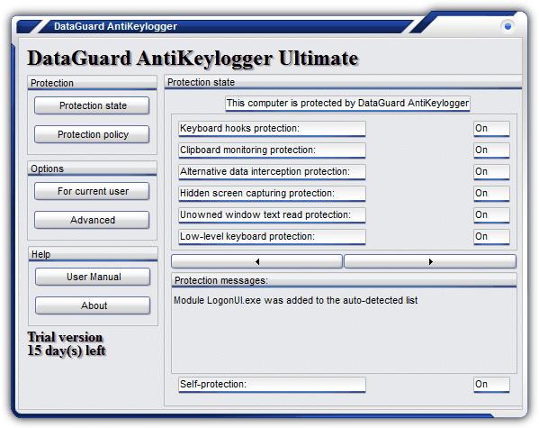 dataguard antikeylogger ultimate en iyi keylogger