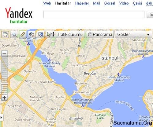 yandex harita özelliği